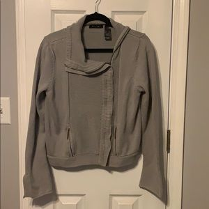 Sweater with side zipper-Axcess by Liz Claiborne